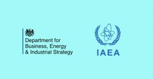 Logos of Department for Business, Energy and Industrial Strategy and International Atomic Energy Authority